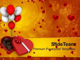 Chocolate Box Heart Shape Balloons Festival PowerPoint Templates PPT Themes And Graphics 0213