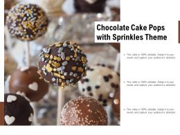 Chocolate Cake Pops With Sprinkles Theme