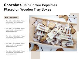 Chocolate Chip Cookie Popsicles Placed On Wooden Tray Boxes