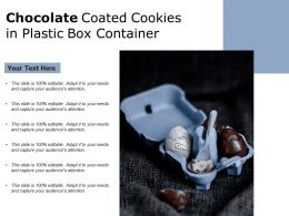 Chocolate Coated Cookies In Plastic Box Container