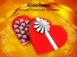 Chocolate Gift Box Wedding Background PowerPoint Templates PPT Themes And Graphics 0213