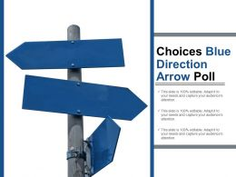 Choices Blue Direction Arrow Poll
