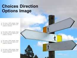 Choices Direction Options Image