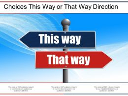 Choices This Way Or That Way Direction