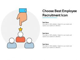 Choose Best Employee Recruitment Icon