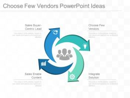 Choose Few Vendors Powerpoint Ideas