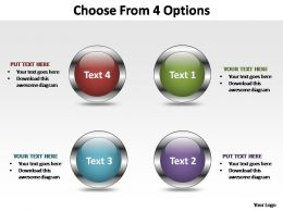choose from 4 options editable powerpoint templates