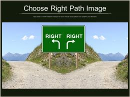 Choose Right Path Image