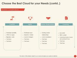 Choose The Best Cloud For Your Needs Agility Ppt Powerpoint Presentation Portfolio