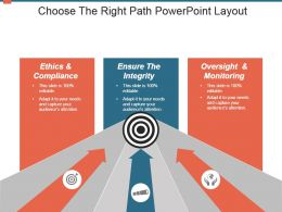 Choose The Right Path Powerpoint Layout