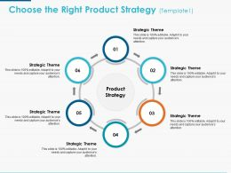 Choose The Right Product Strategy Ppt Powerpoint Presentation Icon Portfolio