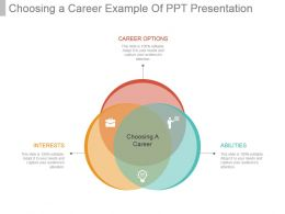 Choosing A Career Example Of Ppt Presentation