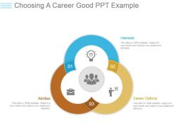 Choosing A Career Good Ppt Example