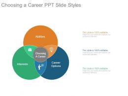 Choosing A Career Ppt Slide Styles