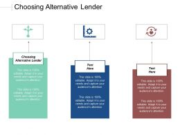 Choosing Alternative Lender Ppt Powerpoint Presentation Gallery Slides Cpb