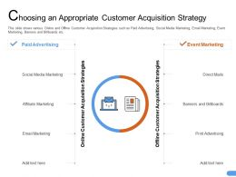 Choosing An Appropriate Customer Acquisition Strategy Print Ppt Powerpoint Model