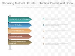Choosing Method Of Data Collection Powerpoint Show