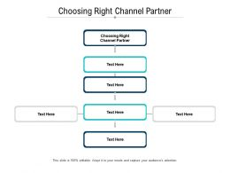 Choosing Right Channel Partner Ppt Powerpoint Presentation Styles Elements Cpb