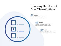 Choosing The Correct From Three Options