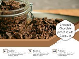 Chopped Chocolate Pieces Inside Glass Jar