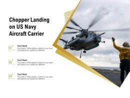 Chopper Landing On US Navy Aircraft Carrier