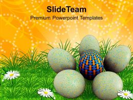 Christ Easter Egg In All For Great Surprise Powerpoint Templates Ppt Backgrounds Slides