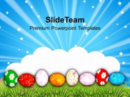 Christ Easter Eggs With Lots Of Suprises Powerpoint Templates Ppt Backgrounds For Slides
