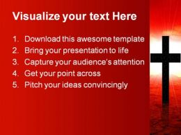 Christ Worship Religion PowerPoint Template 0610  Presentation Themes and Graphics Slide02