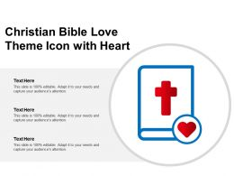 Christian Bible Love Theme Icon With Heart