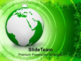 Christian Christmas Bauble Globe Business Powerpoint Templates Ppt Backgrounds For Slides