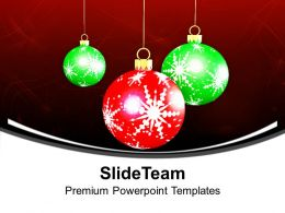 Christian Christmas Baubles Decoration Powerpoint Templates Ppt Backgrounds For Slides