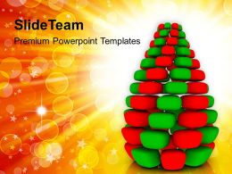 Christian Christmas Tree On Abstract Background Templates Ppt Backgrounds For Slides
