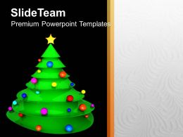 Christian Christmas Tree With Balls And Star Powerpoint Templates Ppt Backgrounds For Slides