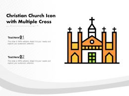 Christian Church Icon With Multiple Cross