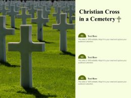 Christian Cross In A Cemetery