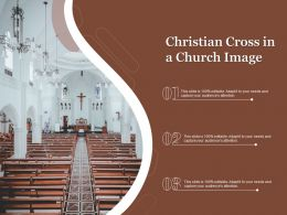 Christian Cross In A Church Image