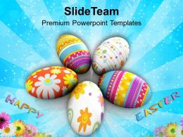 Christian Easter Eggs Choose Your Surprise This Powerpoint Templates Ppt Backgrounds For Slides