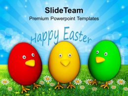 Christian Easter Eggs Colorful Religion Powerpoint Templates Ppt Backgrounds For Slides