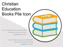 Christian Education Books Pile Icon