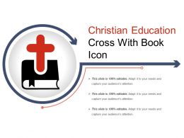 Christian Education Cross With Book Icon