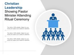 Christian Leadership Showing Pastor Minister Attending Ritual Ceremony