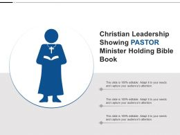 Christian Leadership Showing Pastor Minister Holding Bible Book