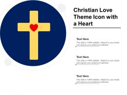 Christian Love Theme Icon With A Heart