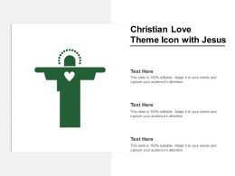 Christian Love Theme Icon With Jesus