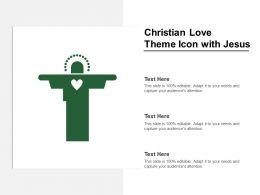 Christian Love Theme Icon With Jesus