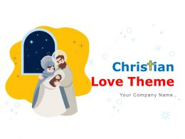 Christian Love Theme Think Bubble Cross Sign Icon With Jesus