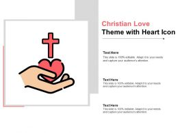 Christian Love Theme With Heart Icon
