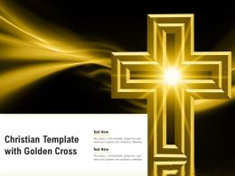 Christian Template With Golden Cross