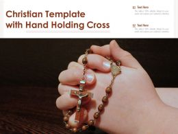 Christian Template With Hand Holding Cross