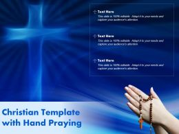 Christian Template With Hand Praying